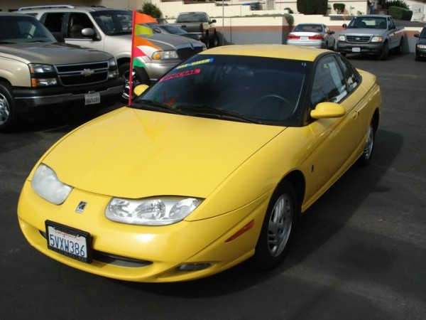 2001 used saturn sc2 color yellow for sale in. Black Bedroom Furniture Sets. Home Design Ideas